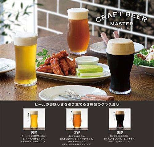 アデリアビールグラスクリアクラフトビア・マスター3個アソートセット食器洗浄機対応日本製S6262
