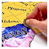 USA Scratch Off Travel Map 12X18 Inch By McScout - Decorative Art Wall Poster To Mark Your Travels On - Deluxe Watercolors - The Perfect Gift For Travelers - Impressive Artistic Colorful & Educational