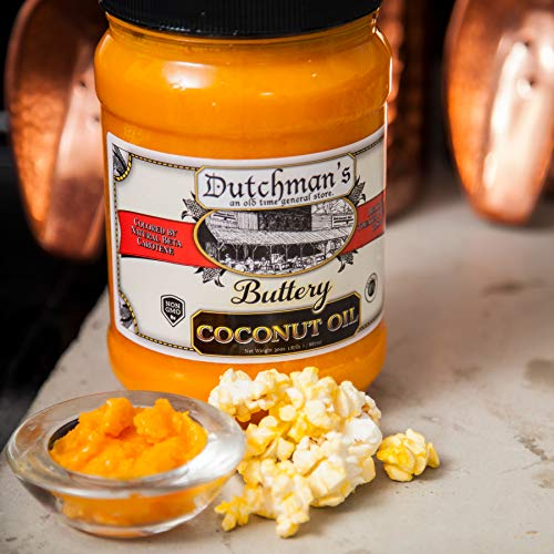 Product Image 4: Dutchman's Popcorn Coconut Oil Butter Flavored Oil, 30oz Jar – Colored with Natural Beta Carotene, Makes Theater Style Popcorn, Top Rated, Vegan, Healthy, Zero Trans Fat