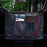 Car Net Pocket Handbag Holder, Car Handbag Holder Between Seats for Purse Storage Phone Documents Pocket Wallet, Black