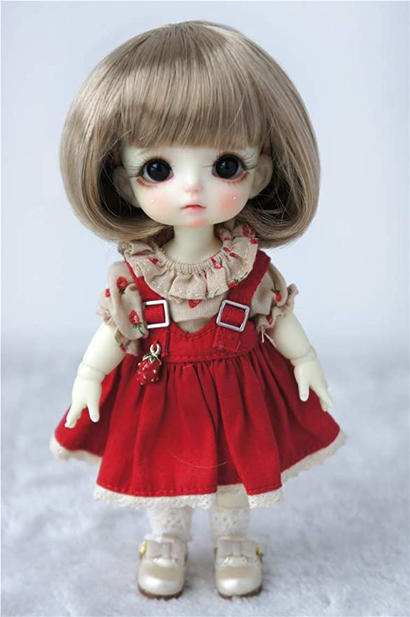 Hand Styled Doll Wig ONLY Korean IHW-028 #39J RED Short Synthetic Size 7-8 SS