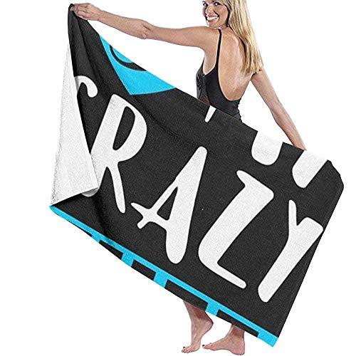 Edmun Amo a mi Loca Esposa DIY Toallas Toalla de baño Baño Piscina Yoga Pilates Picnic Poliéster de Secado rápido 80x130cm