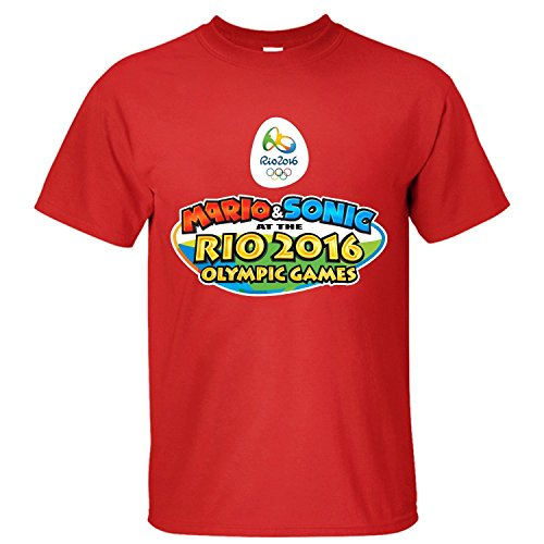 Yrewer Men's Mario&Sonic At The 2016 Brazil Rio Olympic Summer Games T Shirt