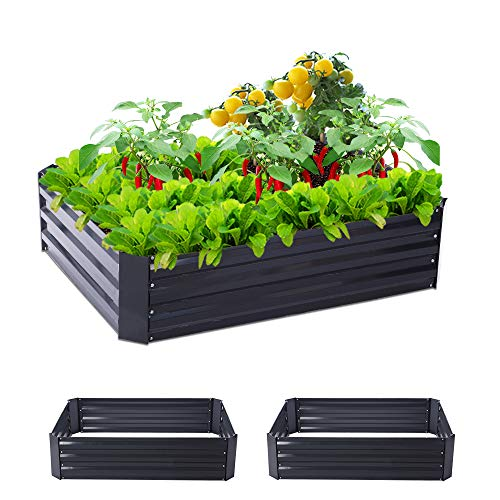 Taleco Gear 2-Pack Outdoor Raised Garden Beds Metal Elevated Planter Box...