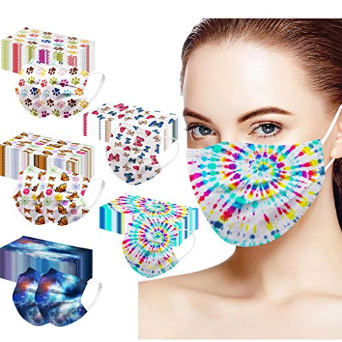 50 Pcs Disposable Face Mask 3-Ply Breathable & Comfortable Face Masks, Protective Masks for Adult Indoor and Outdoor