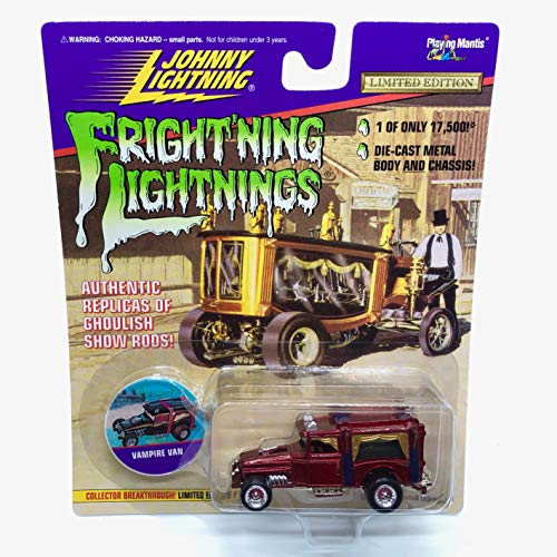 Johnny Lightning Vampire Van (Red) Fright'ning Lightnings Series 2 Limited Edition 1996 Playing Mantis 1:64 Scale Authentic Replicas of Ghoulish Show Rods Die Cast Vehicle (1 of only 17,500)