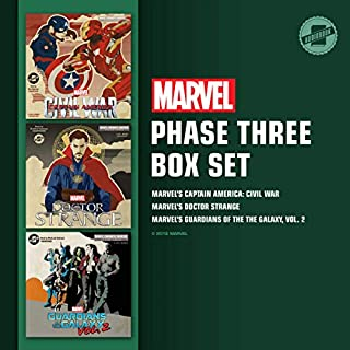 Marvel's Phase Three Box Set     Marvel's Captain America: Civil War; Marvel's Doctor Strange; Marvel's Guardians of the Galaxy, Vol. 2              By:                                                                                                                                 Marvel Press                               Narrated by:                                                                                                                                 Tom Taylorson,                                                                                        Bradford Hastings,                                                                                        MacLeod Andrews                      Length: 9 hrs and 1 min     10 ratings     Overall 4.9