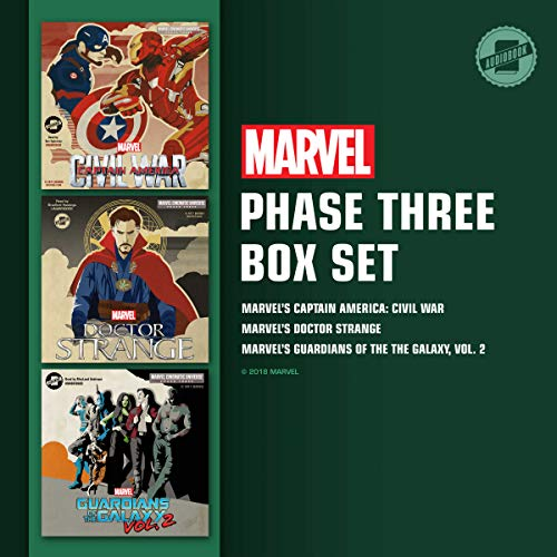 Marvel's Phase Three Box Set audiobook cover art