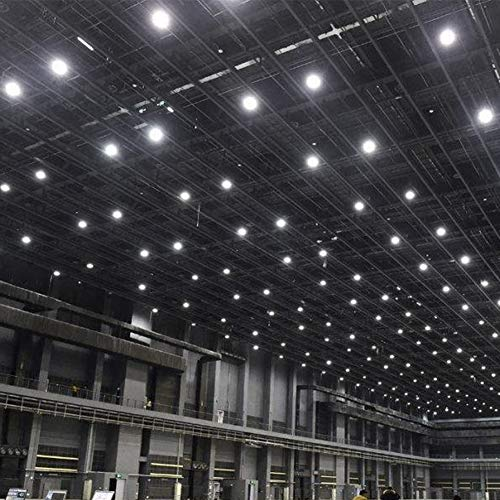 500W UFO LED High Bay Light lamp Factory Warehouse Industrial Lighting IP65 Warehouse LED Lights- High Bay LED Lights- Commercial Bay Lighting for Garage Factory Workshop Gym (500) (10 pcs) 5