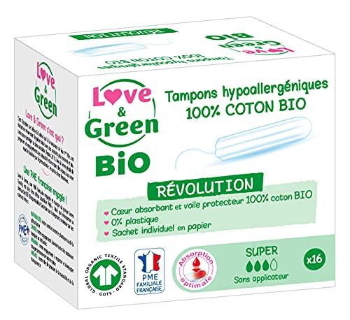 Love & Green Bio – Sellos hipoalergénicos digitales Super 16 piezas 24 Unidades
