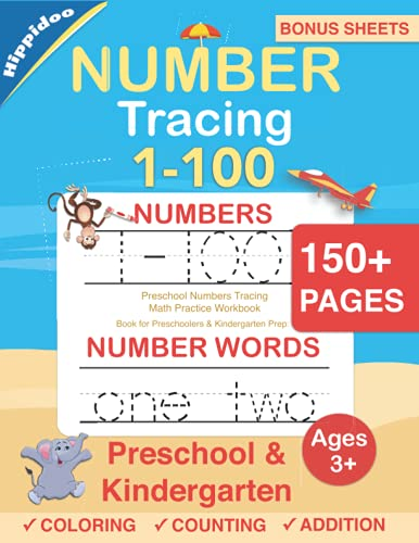 Number Tracing book for Preschoolers: Preschool Numbers Tracing Math Practice Workbook: Math Activity Book for Pre K, Kindergarten and Kids Ages 3-5