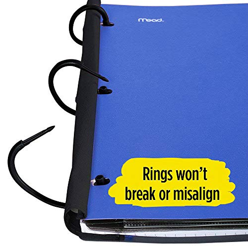 Five Star Flex Hybrid NoteBinder, 1-1/2 Inch Binder with Tabs, Notebook and 3 Ring Binder All-in-One, Blue (72405) Photo #5