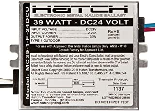 Hatch MC39-1-F-24DCU - 39 Watt - 24V DC Input - Electronic Metal Halide Ballast - ANSI M130 - Side Leads With Mounting Feet