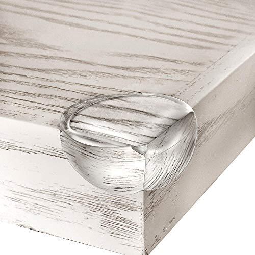 Norjews Eckenschutz und Kantenschutz, 20er-Pack Stoßschutz transparent aus Silikon für Tisch und Möbel Ecken, Kantenschutz für Babys und Kinder