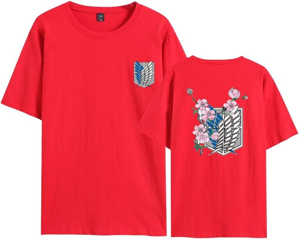 Maglietta Anime 3D Shingeki No Kyojin Scout Regiment Wings of Liberty Badge Cosplay Moda Stampa T Shirt Manica Corta Tee Maglia Shirt Camicia Tops KIACIYA Maglietta Attack on Titan per Uomo Donna