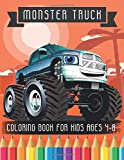 Monster Truck Coloring Book for Kids Ages 4-8: A Coloring book for boys and girls With 25 Pages of Monster Trucks