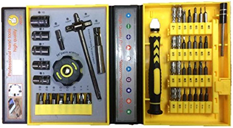 JINHUGU 47 In 1 Präzisionshülsen-Schraubendreher Telekommunikationswerkzeuge CR-V Electronic Repair New B07QBY74PS | Einfach zu spielen, freies Leben