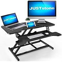 Juststone 36 Inch Standing Desk Converter Computer Workstation
