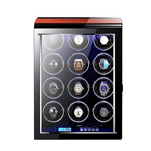 Caja giratoria para Relojes Automática De Pantalla Mira La Caja con Mabuchi Motor LCD Táctil Y Mando A Distancia Watch Winder Box CG624