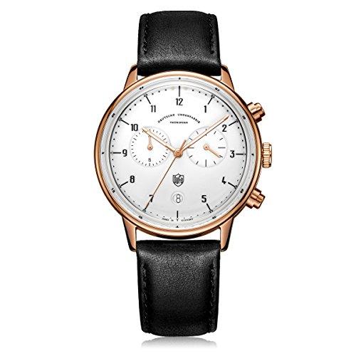 Dufa Deutsche Uhrenfabrik Orologio Cronografo Quarzo Unisex con Cinturino in Pelle DF-9003-04