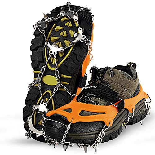 Unigear Traction Cleats Ice Snow Grips with 18 Spikes for Walking