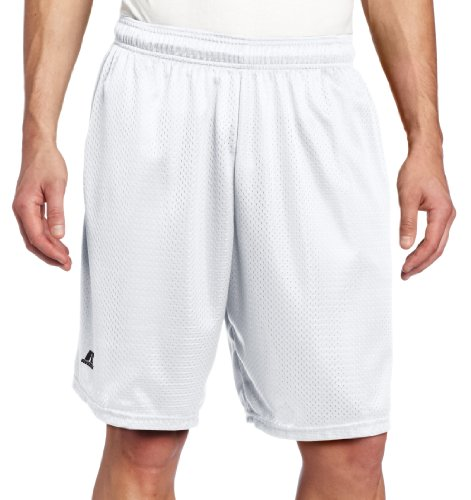 Russell Athletic Men's Mesh Short with Pockets, White, Medium