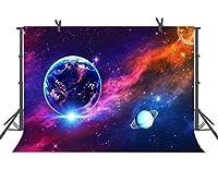 FUERMOR 宇宙惑星背景 7x5フィート スターウォーズテーマ 写真背景 写真スタジオ小道具 LHFU325