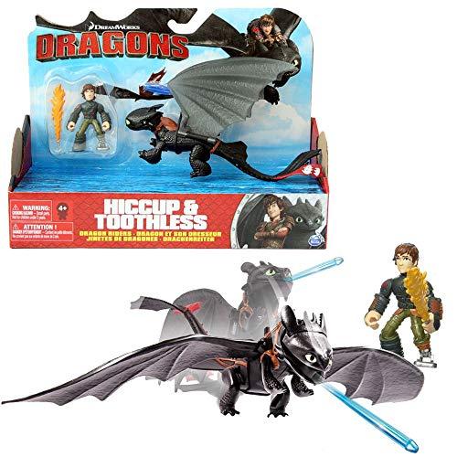 Dragons Hicks Feuerfackel & Drachen Ohnezahn   DreamWorks Action Spiel Set
