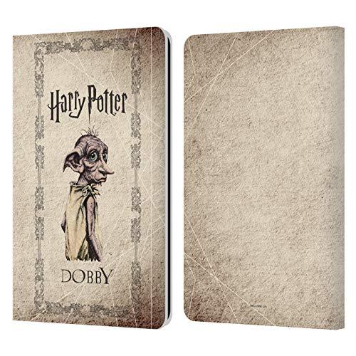 Head Case Designs Offizielle Harry Potter Dobby House Elf Geschoepf Chamber of Secrets II Leder Brieftaschen Handyhulle Hulle Huelle kompatibel mit Kindle Paperwhite 12 3