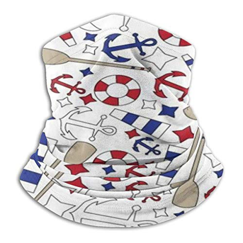 Schlauchschal Herren,Halswärmer Warm Nautical-Pattern Neck Warmer Gaiter Fleece Ski Face Mask Cover for Winter