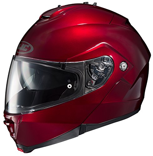 HJC IS-MAX II Wine Modular Dual Visor Flip Up Motorcycle Helmet L