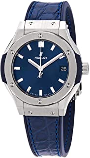 Hublot Classic Fusion Blue Dial Ladies Blue Leather Watch 581.NX.7170.LR