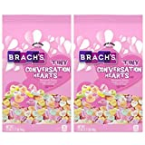 Brachs Tiny Conversation Hearts Valentines Day Candy - Pack of 2 Bags - 54 oz Total - 27 oz Per Bag - 7 Flavors - Wintergreen, Banana, Orange, Lemon-Lime, Cherry, and Grape - Sweetheart Candies