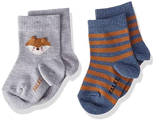 FALKE Unisex Baby Seasonal 2-Pack B SO Socken, Mehrfarbig (Sortiment 0010), 1-6 Monate (62-68cm) (2er Pack)