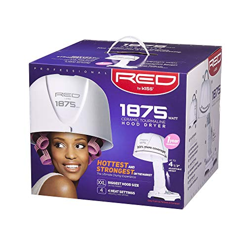 Red by Kiss 1875 Watt Ceramic Tourmaline Professional Hood Dryer BOD04
