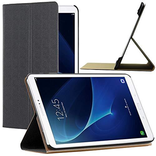 ebestStar - kompatibel mit Samsung Galaxy Tab A6 Hülle Tab A 10.1 (2018, 2016) T580 T585 Schlank SmartCover [Ultra Dünn] Schutzhülle Etui, Ständer Case Cover, Schwarz [Tab: 254.2x155.3x8.2mm, 10.1'']