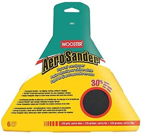 Wooster Industry No. 1 1803 Aero Sander 120 Grit 10ct. discount Case 6Pk Sandpaper -