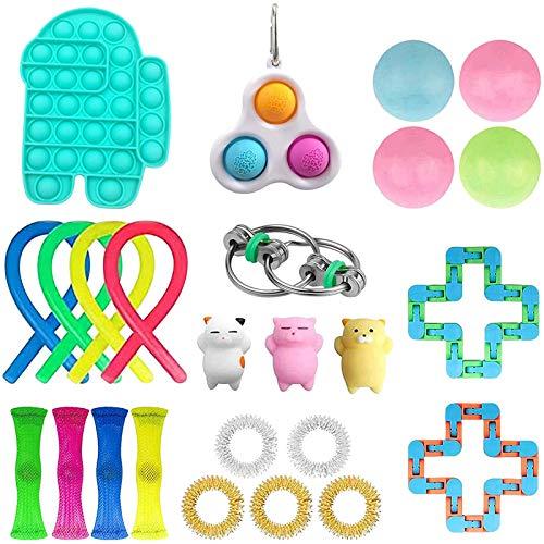 Allegorly Tik Tok Sensorisches Fidget Spielzeug Set Sensory Fidget Toys Set für Autismus ADHS-Menschen Anti Stress Pop it Toys für Stressabbau und Anti-Angst für Kinder und Erwachsene
