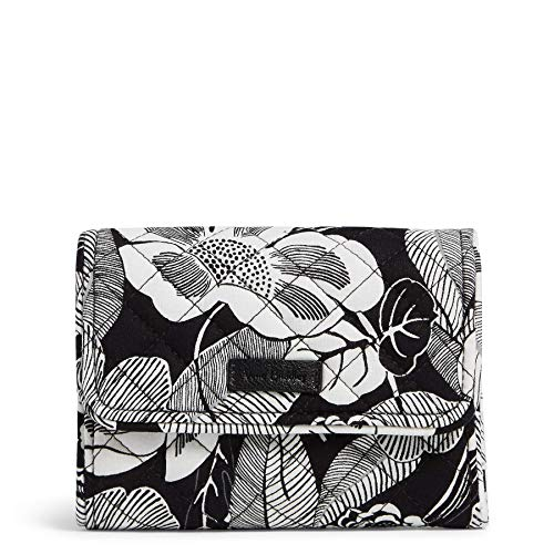 Vera Bradley Signature Cotton Riley Compact Wallet with RFID Protection, Bedford Blooms