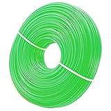 Zeqeey Filo nylon per tagliabordi 2,0mm x 100m Filo per decespugliatore tondo, per parco giardino prato