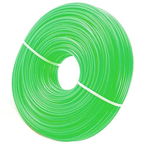 Zeqeey Trimmerfaden Nylon Mähfaden 2,0mm Länge 100m Rund Rasentrimmer Faden Unkraut Trimmer Freischneider Fäden für Park Garden Yard Rasen Gras und Unkraut, 2,0mm Grün