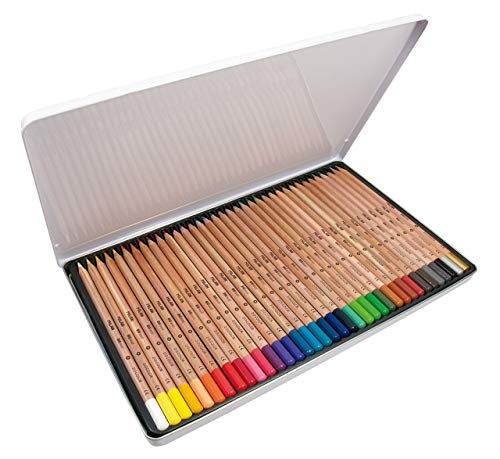 Caja metálica 36 lápices de colores con mina grande Ø3,3