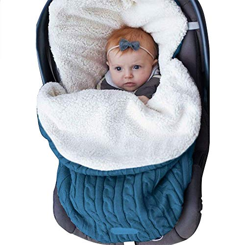 Collager Newborn Baby Swaddle Blanket Fleece Stroller Wrap Nap Plus Velvet Infant Thick Knit Soft Warm Sleeping Bag Sleep Sack