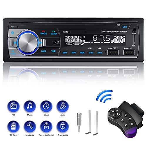 Autoradio Din 1 Radio, CENXINY Autoradio mit Bluetooth Freisprecheinrichtung Bluetooth 5.0, USB*2/AUX/TF, FM Radio/MP3 Player mit Lenkrad-Fernbedienung (18,8 * 9 * 5cm)