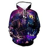 Youth 3D Printed Hooide Battle Royale Floss Sweatshirt with Pocket for Ninja Boys Raven Kids-M(10-12)