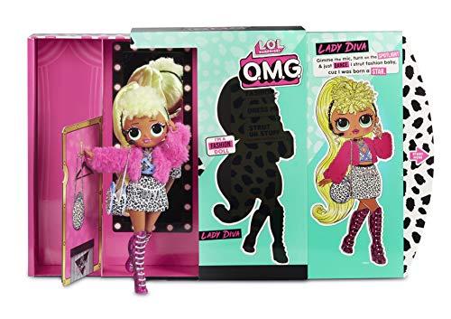 MGA- Poupée-Mannequin L.O.L O.M.G. Lady Diva avec 20 Surprises Toy, 560562, Multicolore
