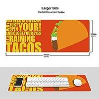 タコス コンピューター マウスパッド キーボードパッド 滑らかマウスパッド ゲーミングパッド 大型 オフィス 家庭用