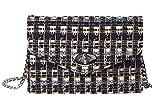 Becksöndergaard Chal Pilla Bag Black 2001412011-010 - Bolso de mano para mujer, diseño de cuadros, color negro