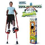 Geospace Original Walkaroo Xtreme Steel Balance Stilts with Height Adjustable Vert Lifters by Air Kicks (red)