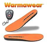 Warmawear Semelles Chauffantes Deluxe Imperméables, sans Fil avec Télécommande (Moyen)